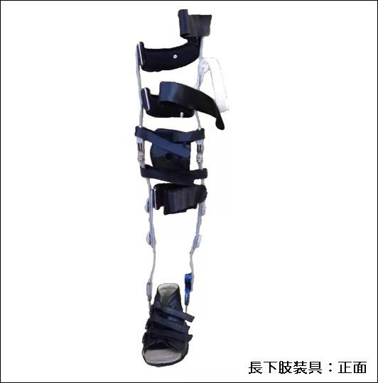 長下肢装具正面画像イラスト