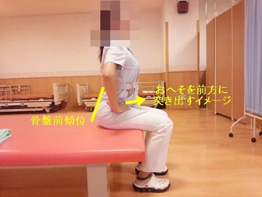 骨盤の前傾後傾運動自主トレ3