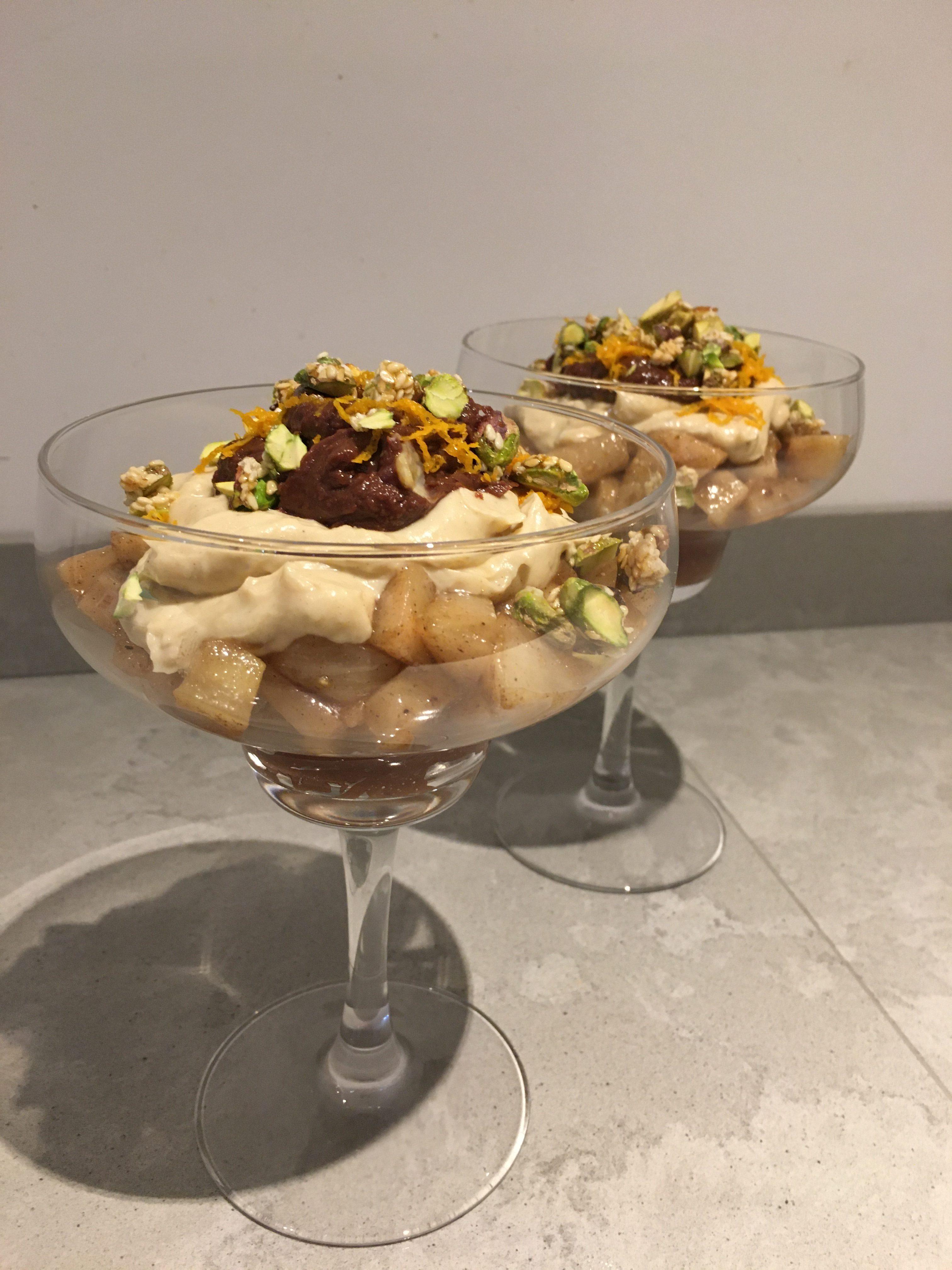 Trifle met kaneelperen