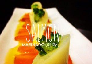 Salmón marinado con café