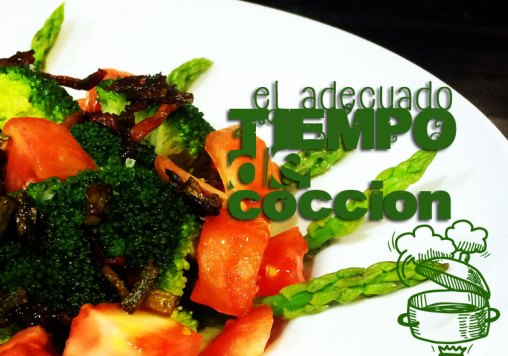 Tiempos de cocción de las verduras