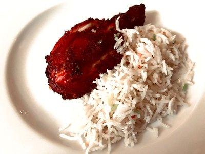 Pollo con arroz basmati
