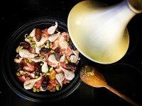 Tagine de higos y pistachos