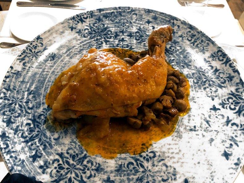 Pollo a la marengo. Chef Koketo
