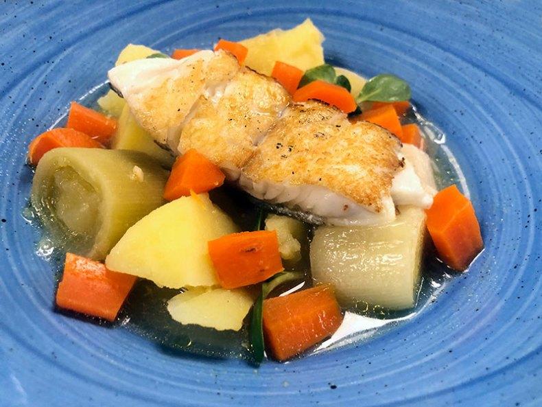 Variedad con bacalao y zanahoria