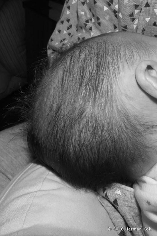 newborn's hair