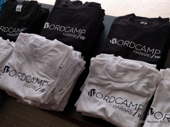 It's not a real WordCamp without shirts...