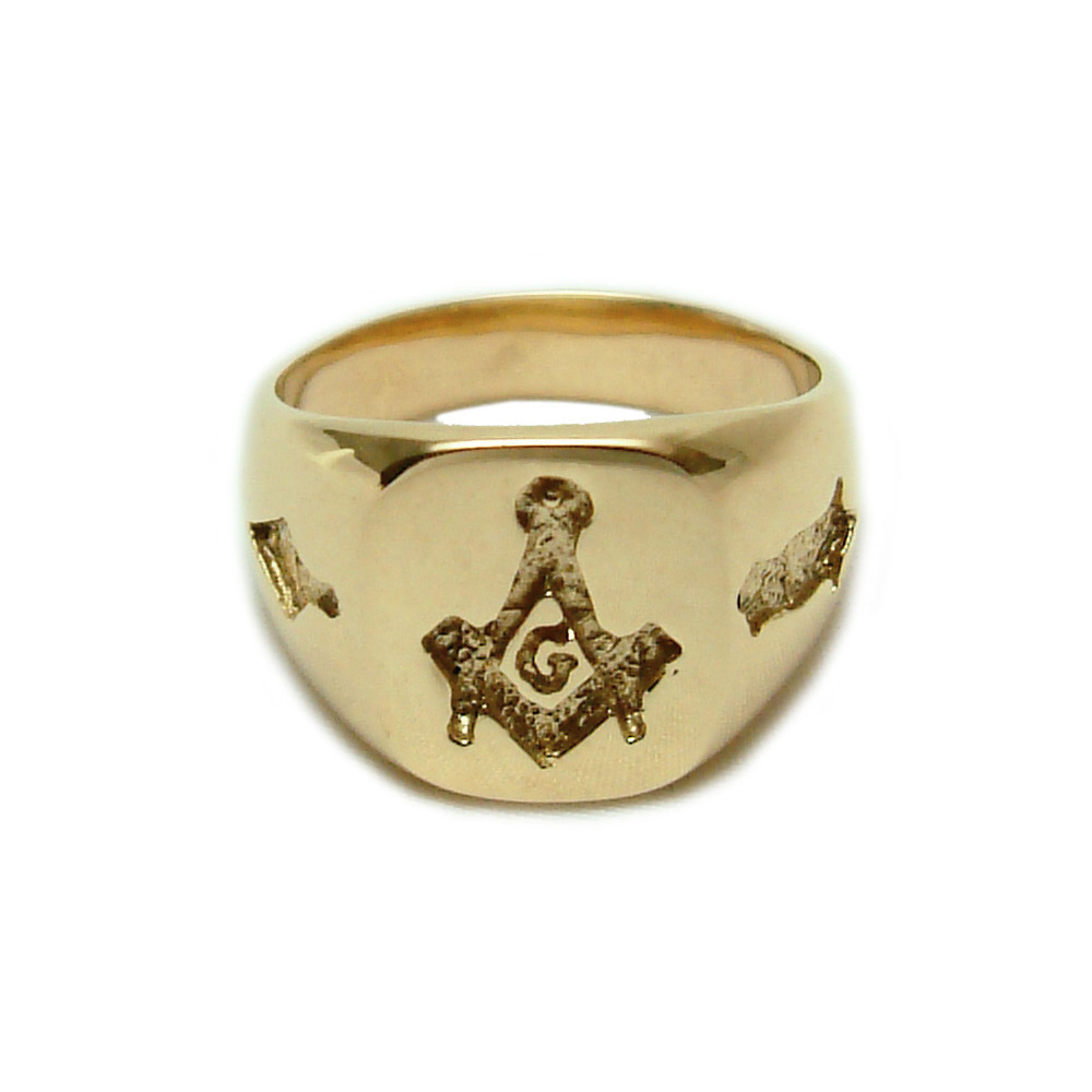 14K Gold Masonic Ring