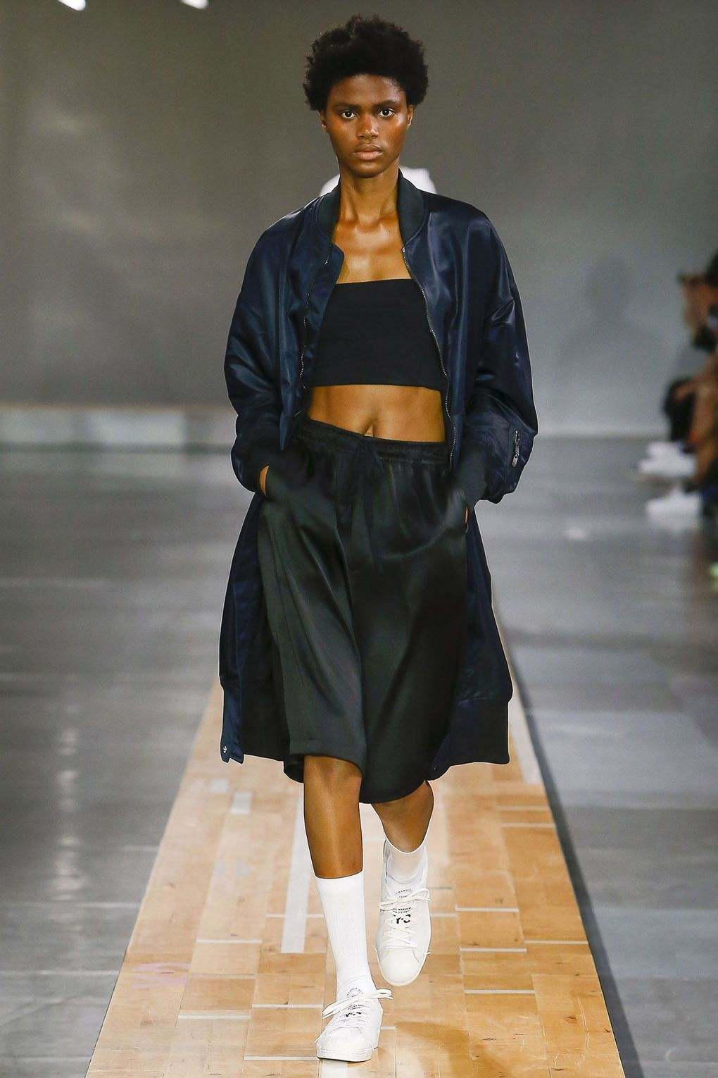2a14b37938add Imade Ogbewi Takes A Walk Down The Runway For Y3-Adidas In Paris ...