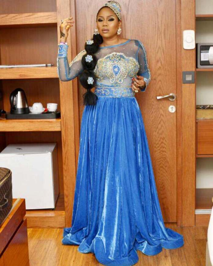 Toyin Lawani Is As Beautiful As A Mermaid As She Step Out For The Premiere Of Wedding Party 2 3