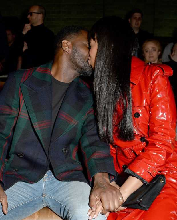 Sealed With A Kiss...Newly Engaged Idris Elba And Sabrina Dhowre Are All Loved Up At London Fashion Week 4