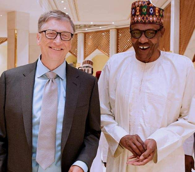 Bill Gates Congratulates Buhari Over His Re-election