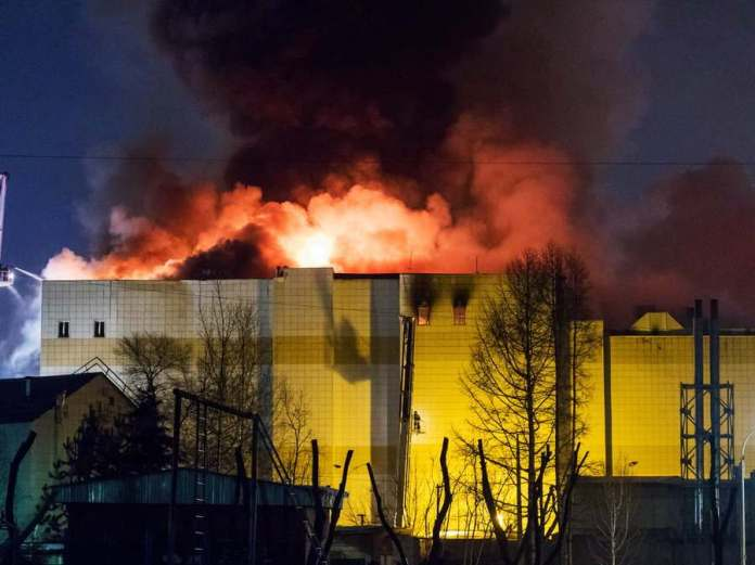 Sad! Fire Outbreak In A Russian Shopping Mall Leaves At Least 64 People Dead 1