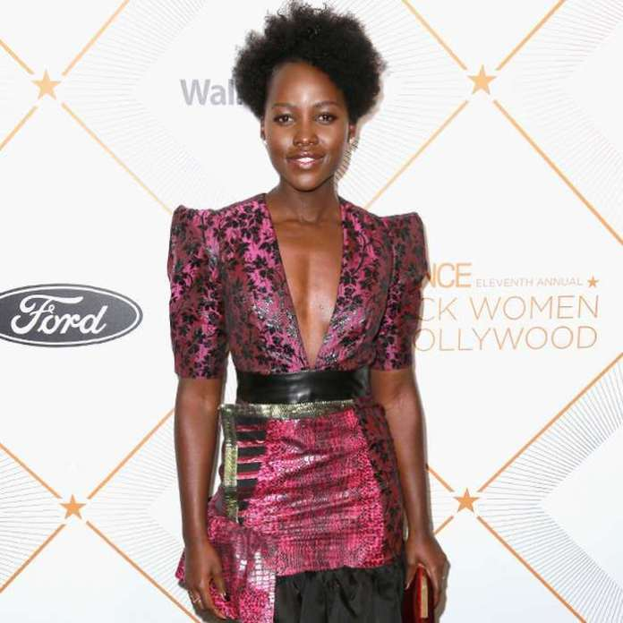 #BlackPanther! Lupita Nyong'o Dazzles In Daring Pink Dress At The 2018 Essence Black Women In Hollywood Oscars Luncheon 1