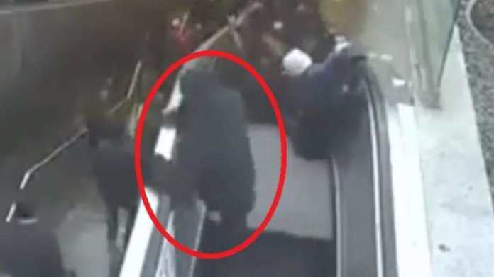 Must Watch: Man Swallowed By Escalator At Train Station 2