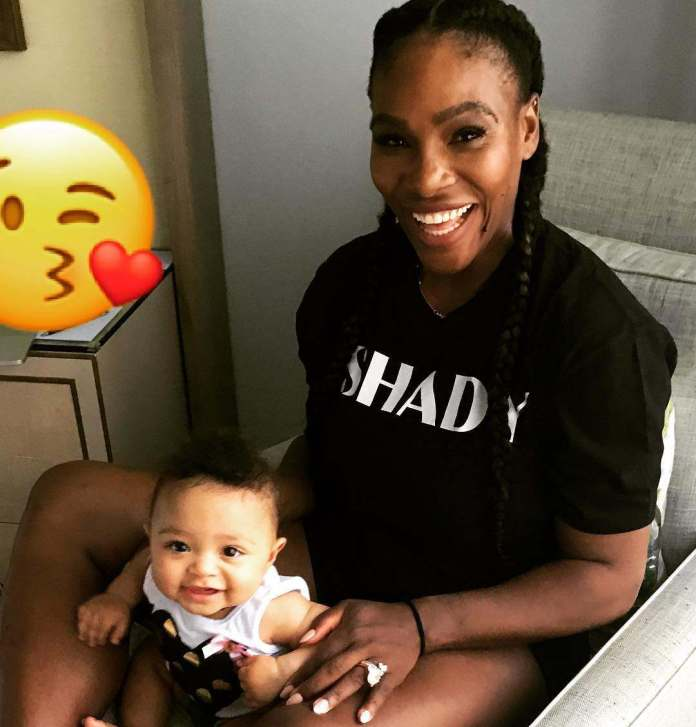 Aww! Serena Williams Posts Adorable Photo With Her Cute Daughter 2