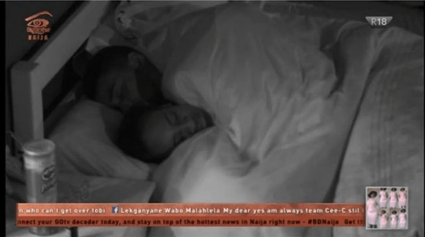 #BBNaija2018: Tobi And Anto All Lovey-dovey Under The Sheet...Watch Cee-C's Reaction 1