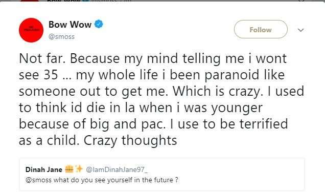 Suicide: My Mind Is Telling Me I Won't Live To See 35 - Bow Wow 3