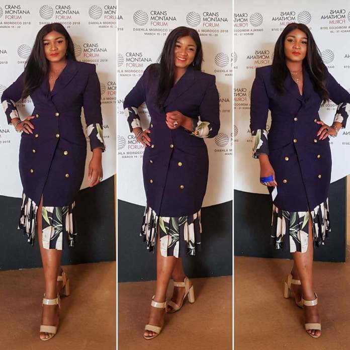 Who What Wear: Omotola Jalade-Ekeinde Dazzles In Tbally's Lao Blazer Dress 2