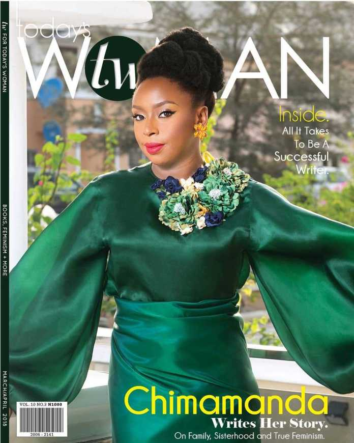 Chimamanda Ngozi Adichie Dazzles In Green As She Covers The Latest Issue Of TW Magazine 1