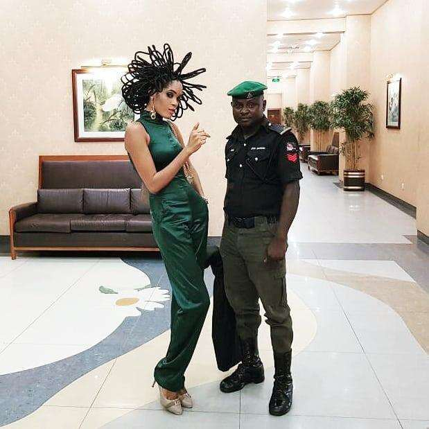 Interesting! Model With N40 Million Hair Gets Police Protection After Several People Started Threatening Her 3