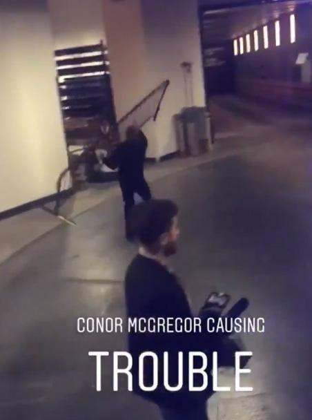 Conor McGregor Hands Himself In To NYPD After Attacking Khabib Nurmagomedov's Coach  3