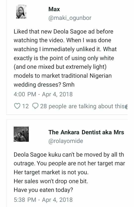 """""""Where Are Africans?"""" Deola Sagoe Slammed For Using White Models In Her Latest Advert 6"""