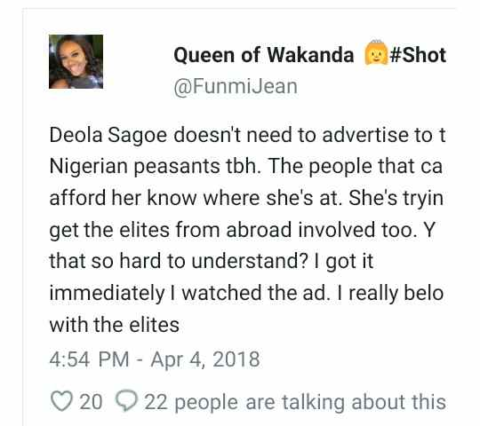 """""""Where Are Africans?"""" Deola Sagoe Slammed For Using White Models In Her Latest Advert 4"""