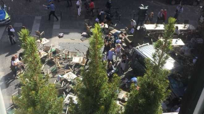Breaking: Three Dead And 30 Injured As Van Ploughs Into Crowd In Muenster, Germany 1