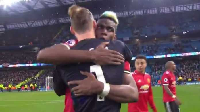 'You Are Number One!'....Paul Pogba Hails David De Gea As Manchester United Crash Manchester City Title Party 1