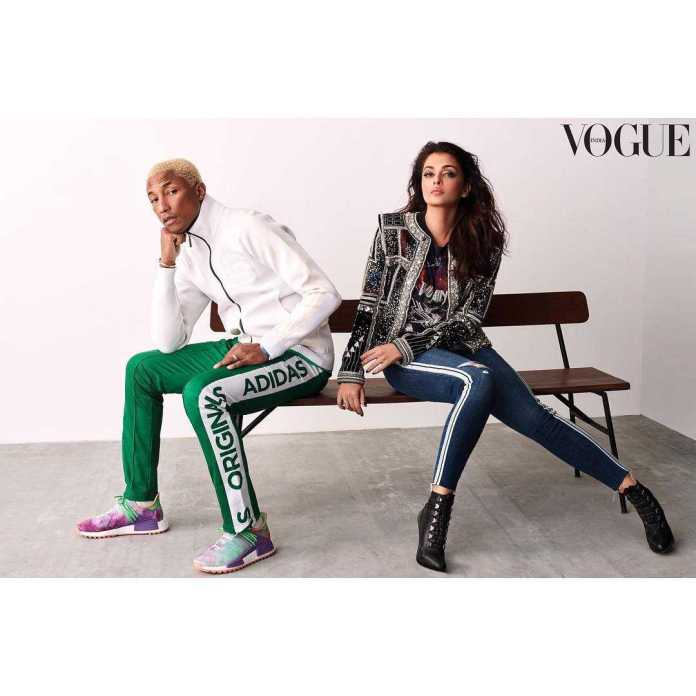 Pharrel Williams And Aishwarya Rai Bachchan Style For The Cameras On The Cover Of Vogue India 3