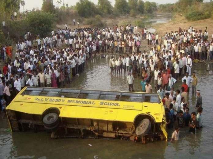 Sad! Bus Crash In India Leaves 27 Children Dead 1
