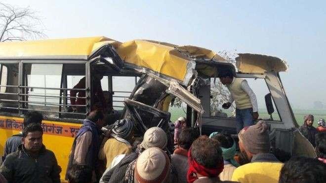 Sad! Bus Crash In India Leaves 27 Children Dead 2