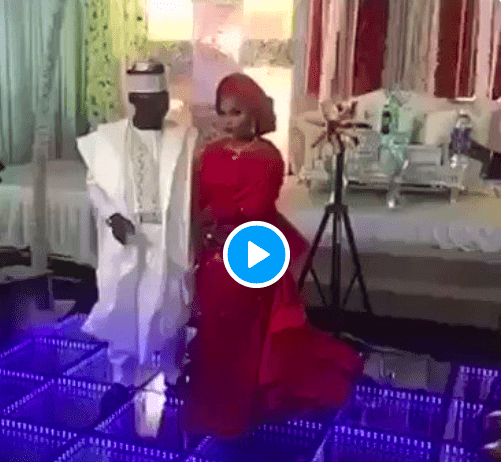 Lol! Watch The Moment A Groom Abandoned His Bride On Stage After Indoor Fireworks Went Off 1