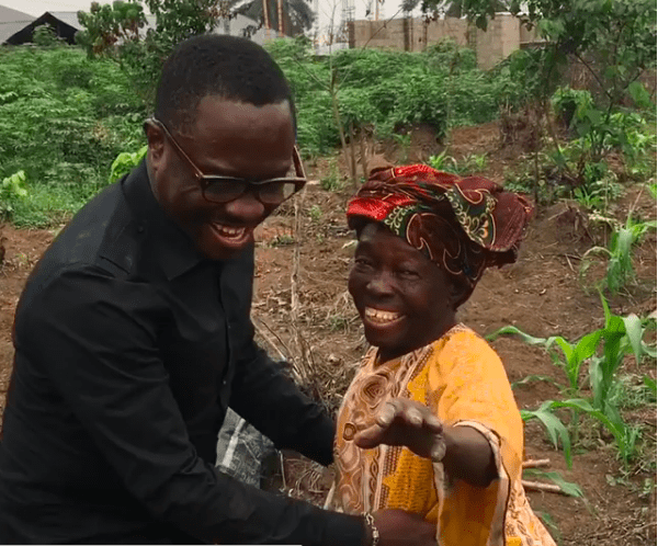 Watch The Teary Moment Julius Agwu Surprised His Mom On The Farm 2