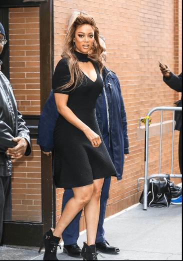 Style Stalking! Tyra Banks Stuns in flirty LBD 2