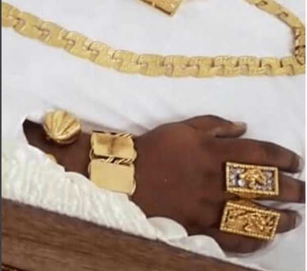 Bling Bling Burial! Shot Millionaire Car Dealer Buried In Gold Casket, Jewellery, Moet Champagne And Timberland Boots 2