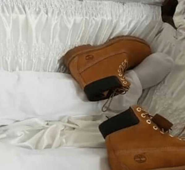 Bling Bling Burial! Shot Millionaire Car Dealer Buried In Gold Casket, Jewellery, Moet Champagne And Timberland Boots 5