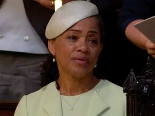 Style Stalking: Classy Doria Ragland Is The Elegant Mother Of The Bride At The Royal Wedding 3