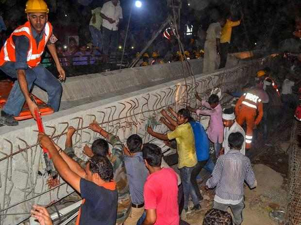 19 Dead, Others Trapped Flyover Collapses In Varanasi, India 3