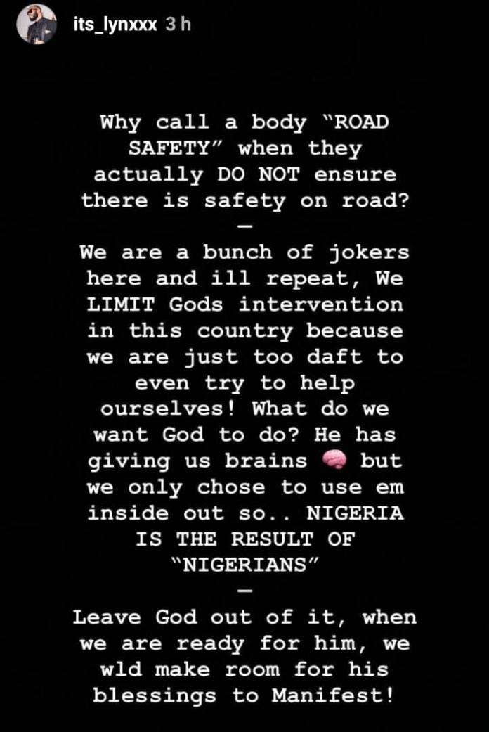 We Are All Jokers - Rapper Lynxx Reacts To Lagos Tanker Fire Incident 3