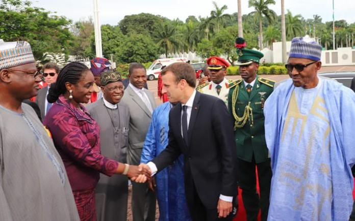 Buhari Receives France President, Macron In Aso Rock - See Photos 1