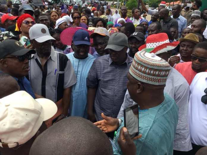 "Senate Promises Neutral Polls In Ekiti After Protest On ""Fayose's Attack"" 3"