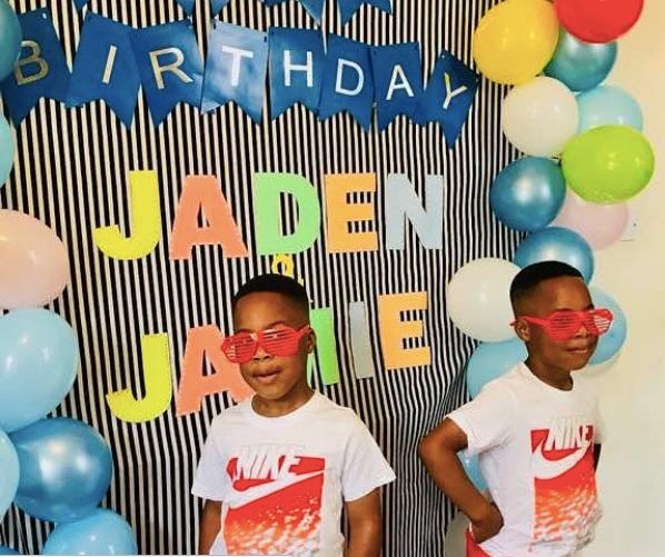 Actress Taiwo Aromokun Celebrates Her Twin Boys As They Turn 5 1