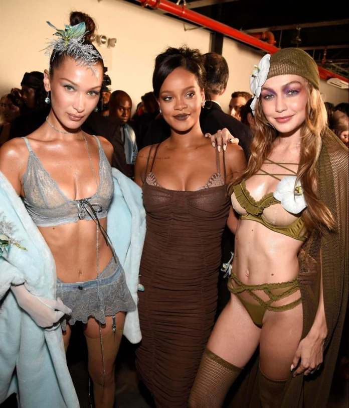 Groundbreaking! Gigi And Bella Hadid, Pregnant, Curvy And All Models Backstage At Rihanna's Savage x Fenty Show at NYFW 1