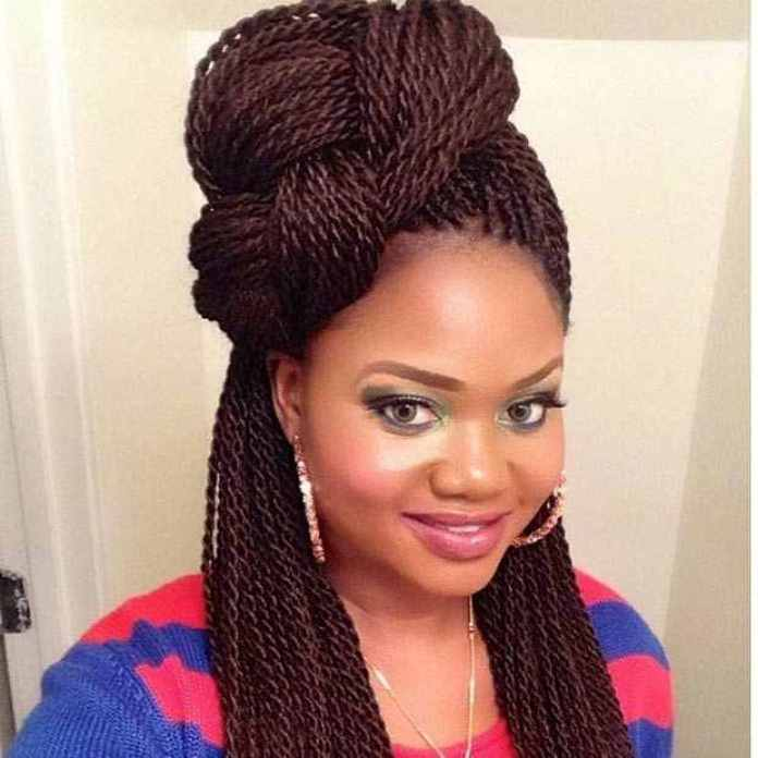 Hair DIY: 9 Easy Ways To Style Your Twisted Braids 11