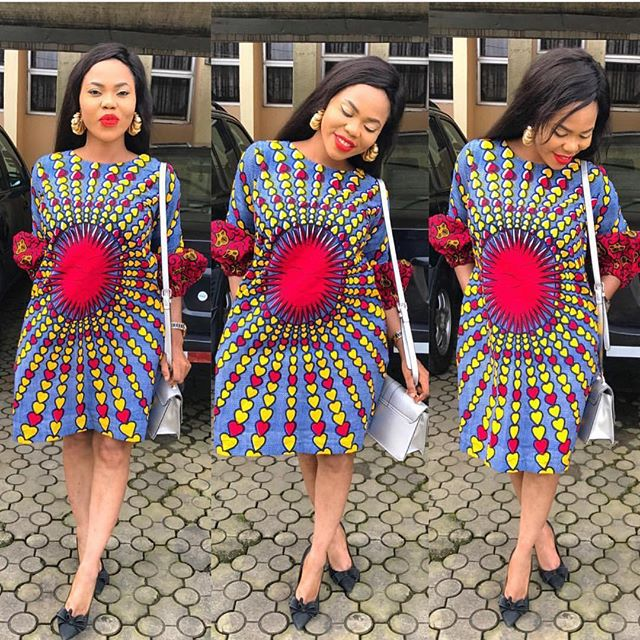 Ankara Style: Slay Your Week With Beautiful Short Gown Designs 6