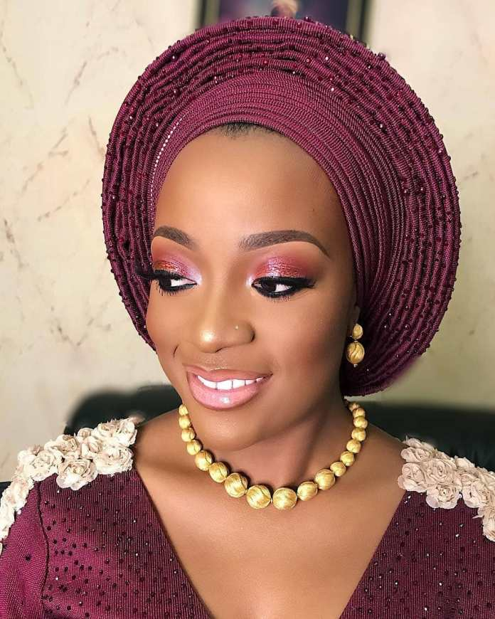 Aso Ebi Style: Stunning Makeup And Gele Styles To Compliment Your Aso Ebi 3