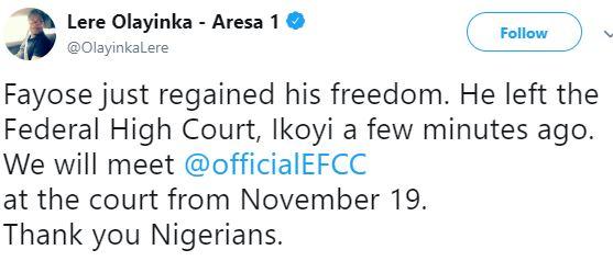 At Last! Ayo Fayose Regains Freedom 2