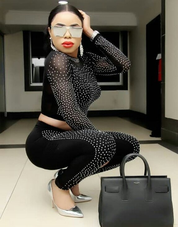 Bobrisky Looks Stunning In A Black Two-Piece Outfit 2